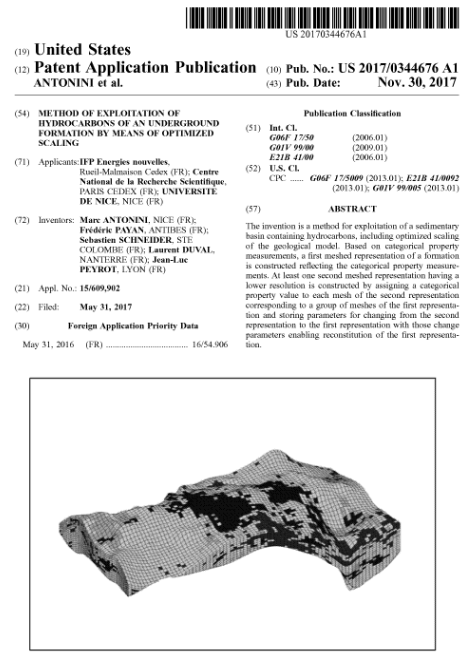 Method of exploitation of hydrocarbons of an underground formation by means of optimized scaling